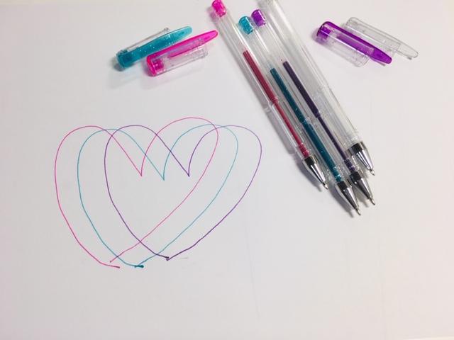 キラキラ♡4色ペン