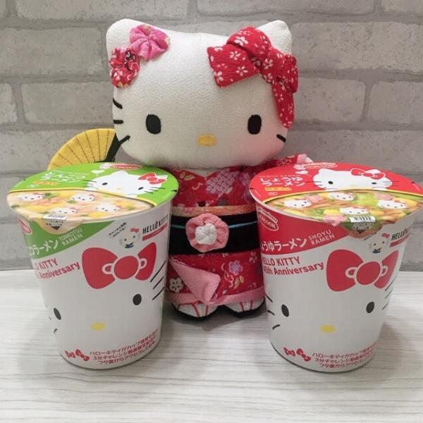 【エースコック】ハローキティ45thアニバーサリー♡カップラーメン 衝撃!キティちゃんの本性?!