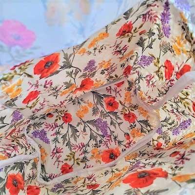 SUPER HAKKA(スーパーハッカ)花柄巾着付きかごバッグ