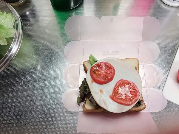 早速「折るサンド」でサンドイッチ!!