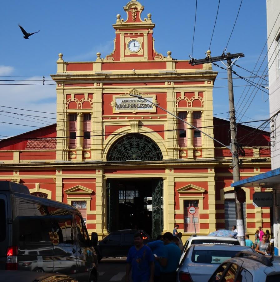 マナウスにあるアドウフォ・リスボア市場