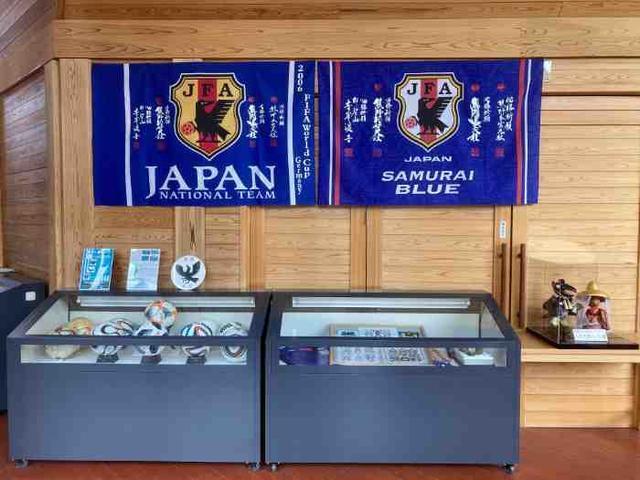 世界遺産熊野本宮館(内部/ヤタガラスの垂幕など)