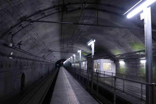 土合駅の下りホーム