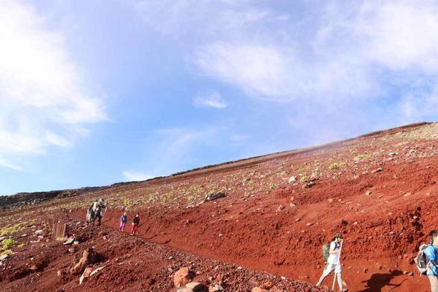 富士山吉田ルート下山の様子