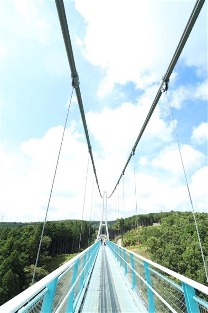 三島スカイウォークの橋の途中