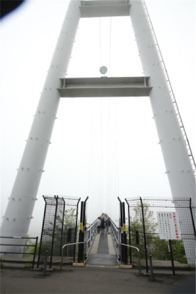 九重夢大吊橋の端(曇りの天候)