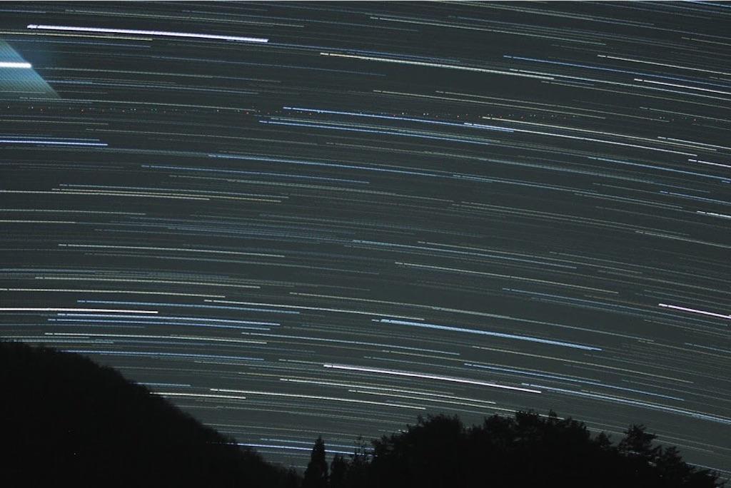 阿智村の星の軌跡