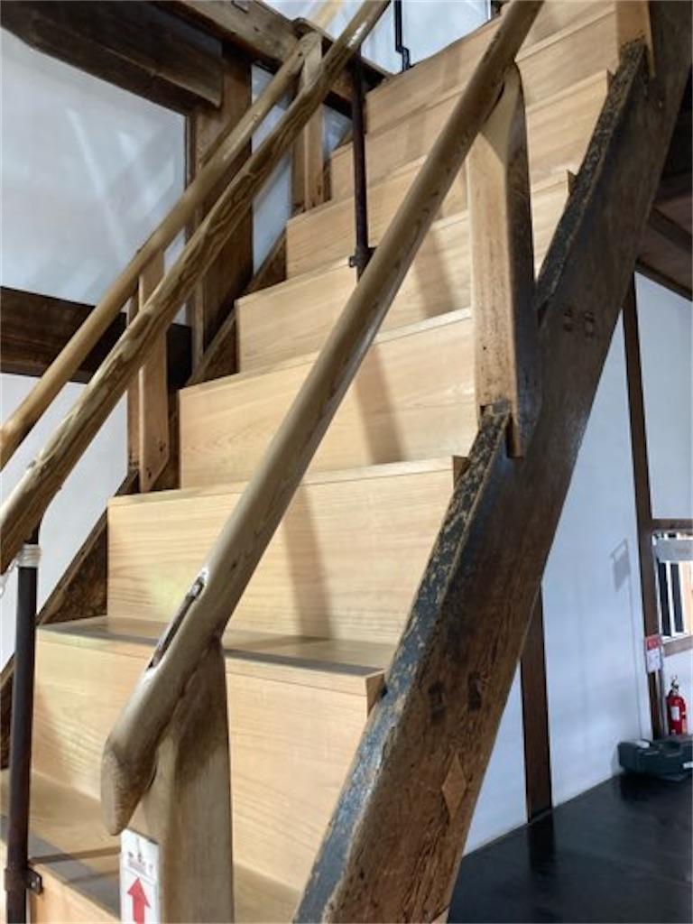 犬山城内部の階段(その1)