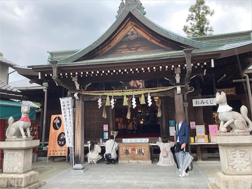 三光稲荷神社の拝殿の外観