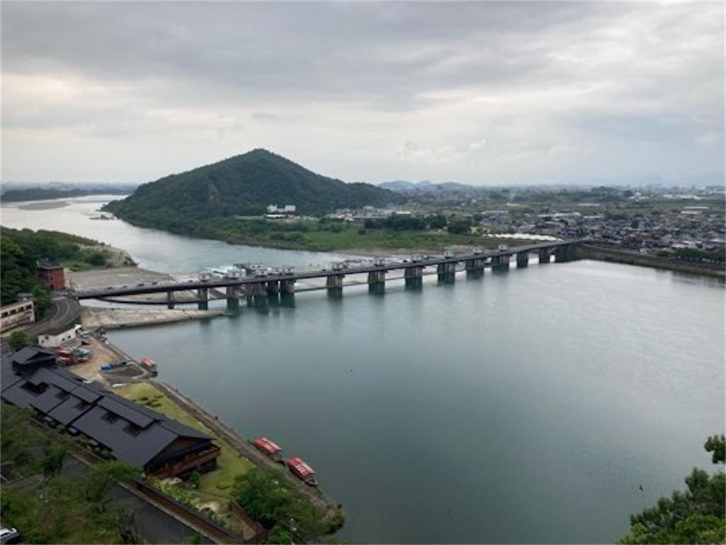 犬山城の最上階からの景色(木曾川方向)