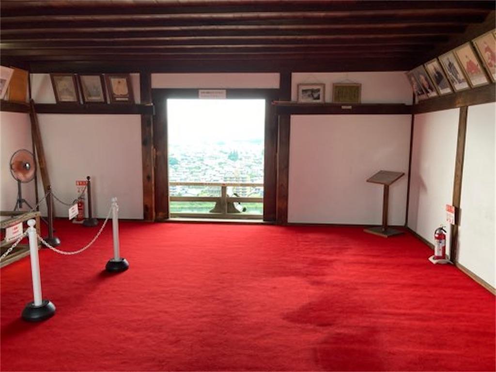 犬山城の最上階内部