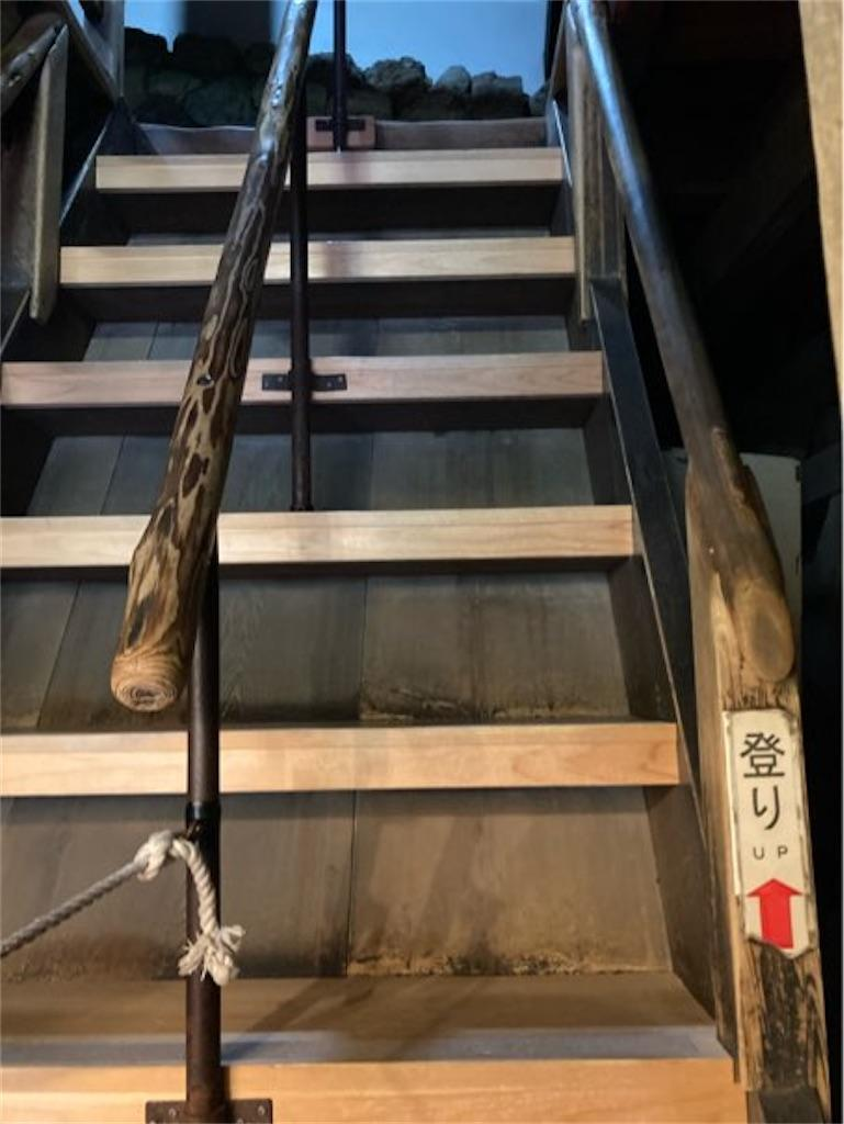 犬山城内部の階段(その2)