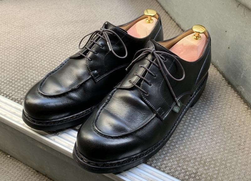 靴磨き後の様子