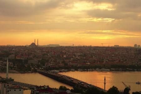 9月:イスタンブール,ガラタ塔からの夕景