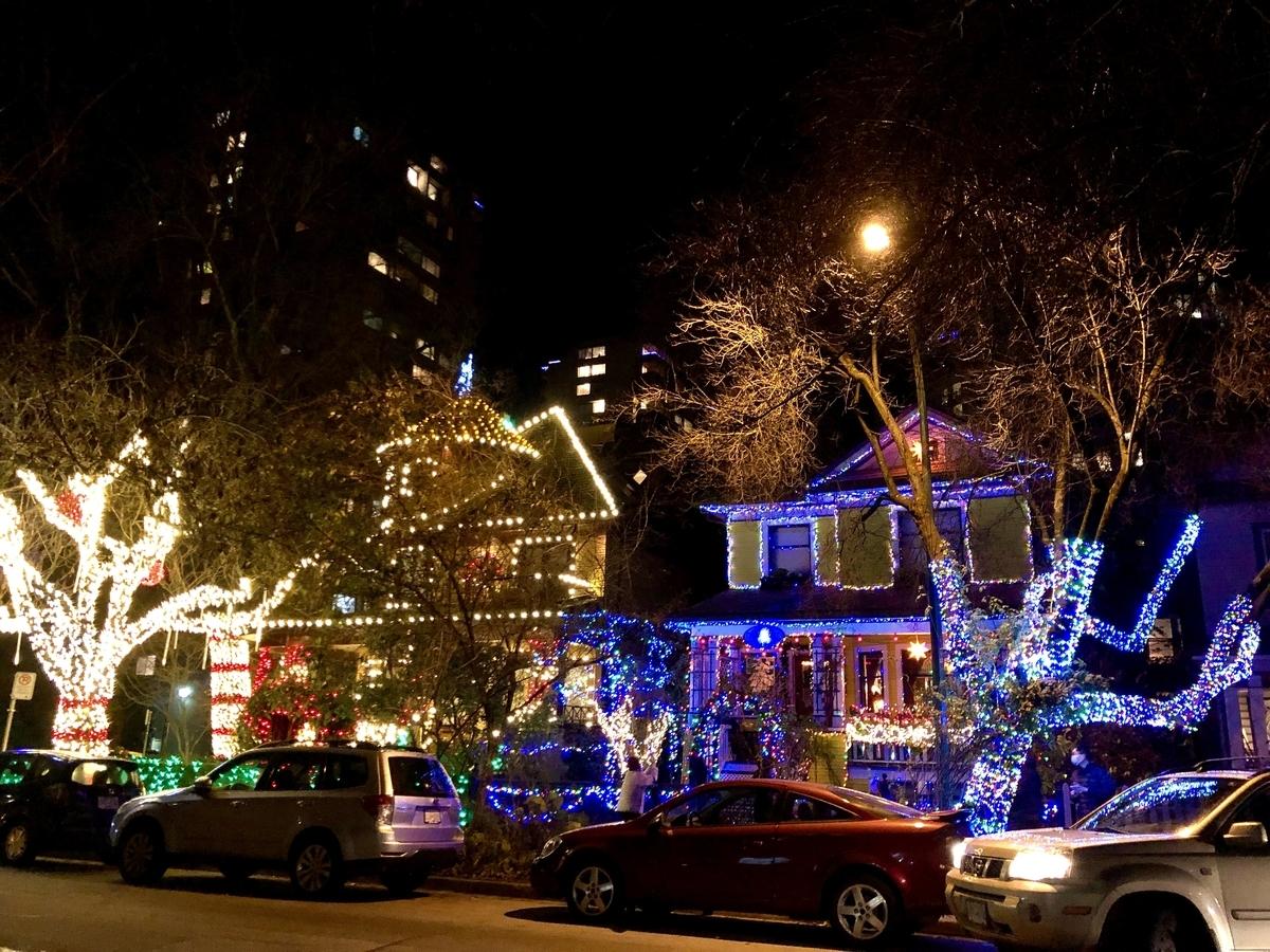 バンクーバーのクリスマスイルミネーション