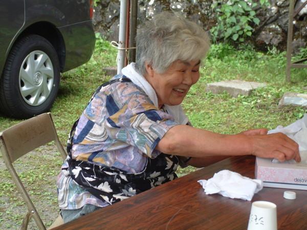 民宿「大平」のおばちゃん