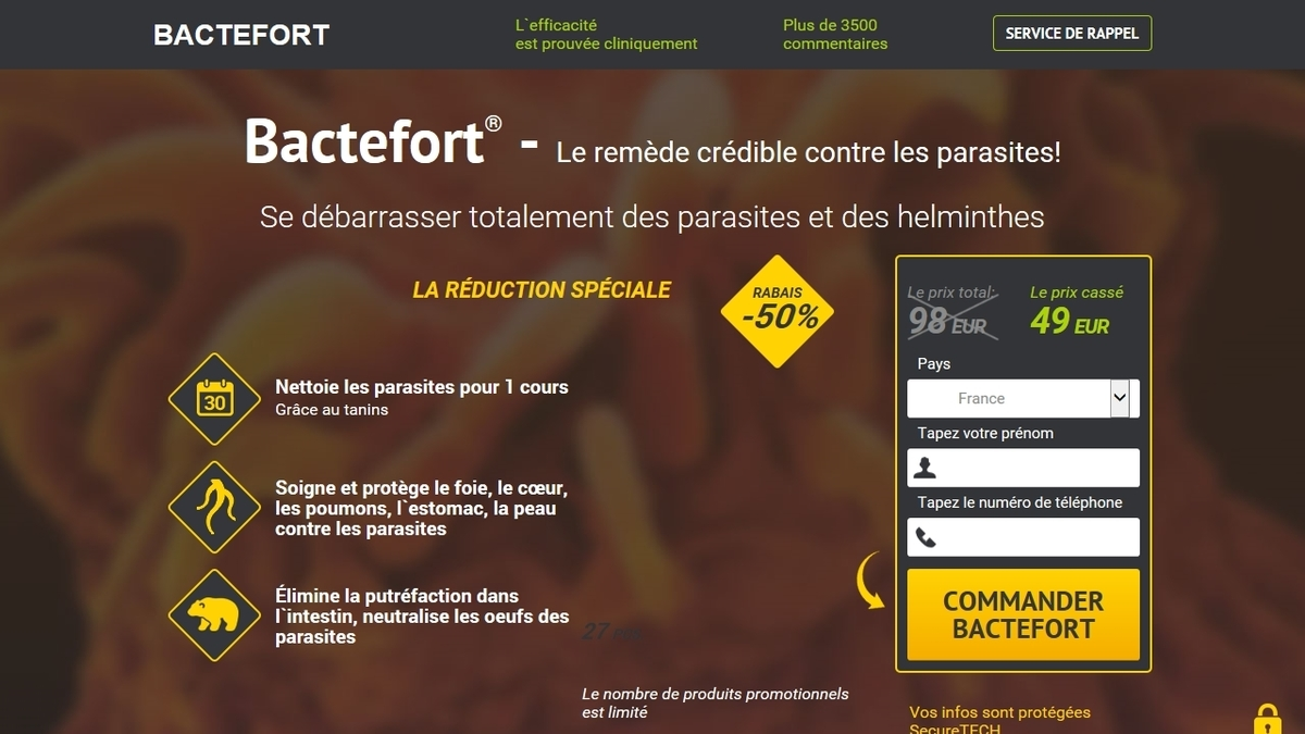 Où acheter Bactefort