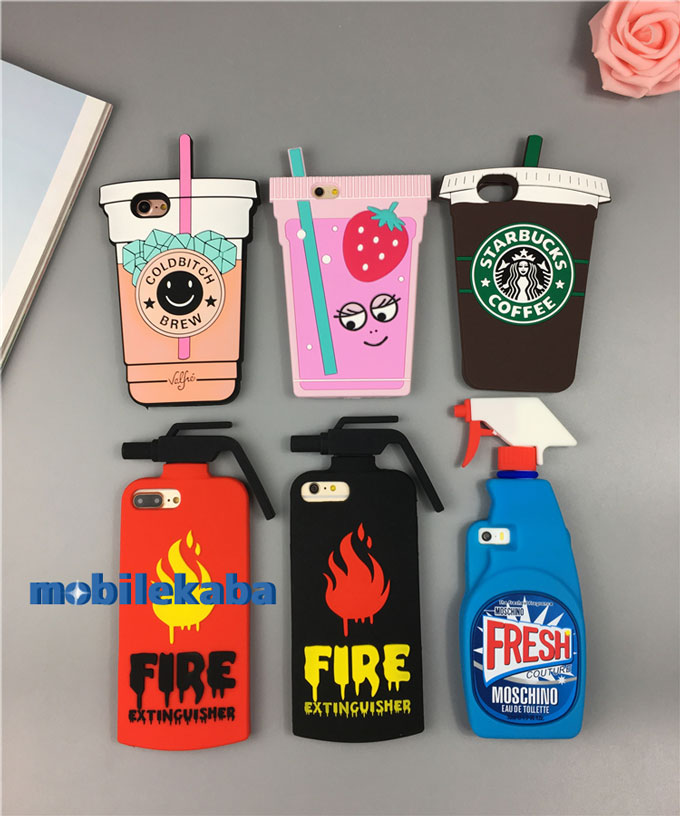 モスキーノ moschino 洗剤ボトル型シリコンiPhoneX/iPhone8Plus/7/6sケース 消火器型