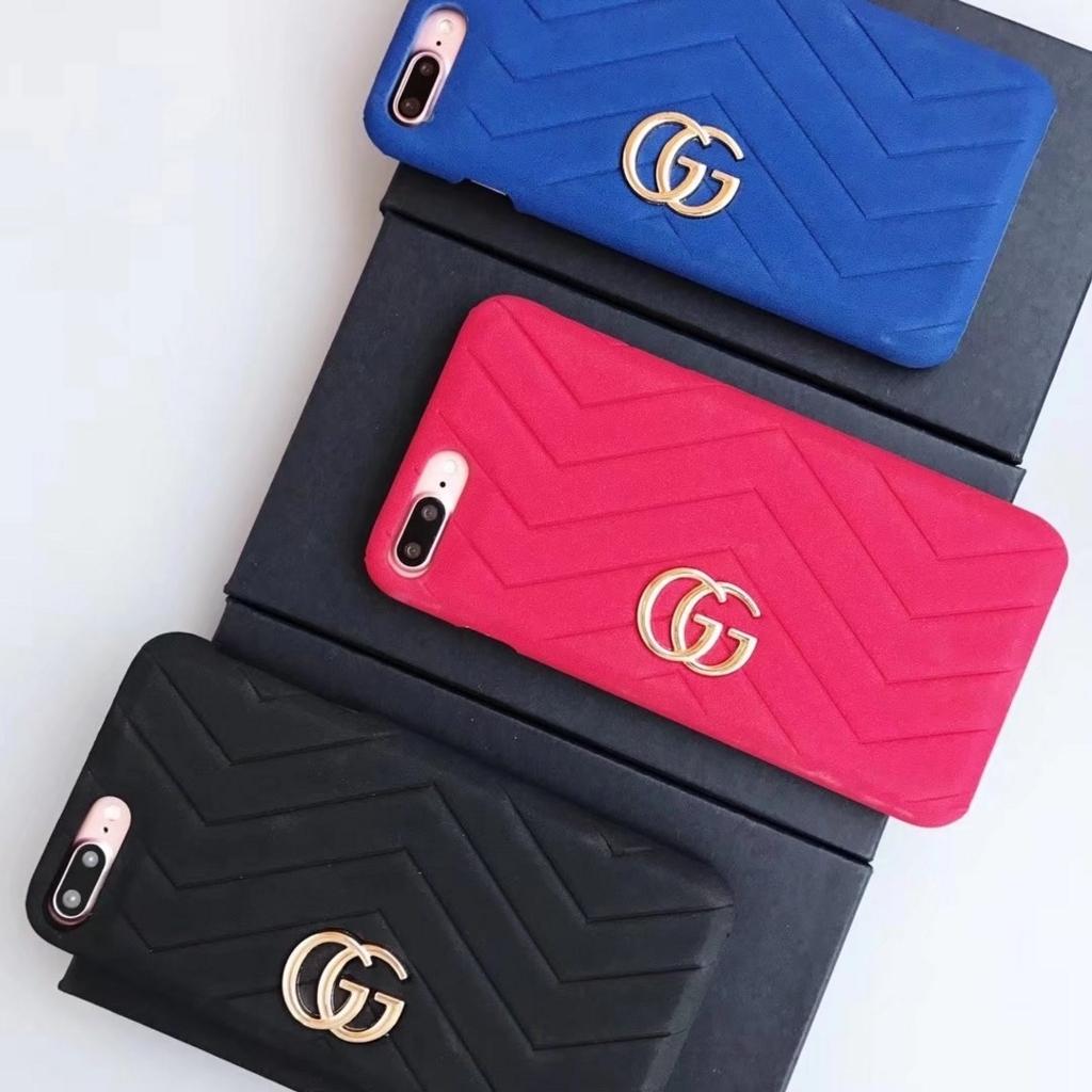 ブランド青黒赤お揃いグッチ gucci iphone x/8/8 plusケース携帯