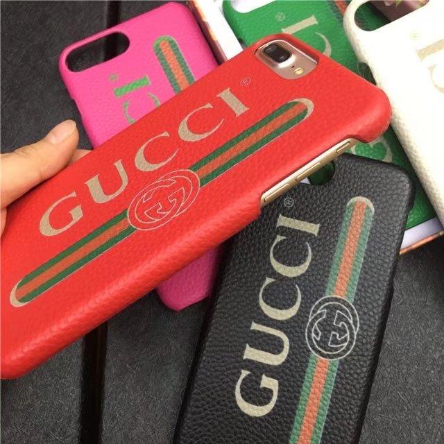 Gucciストライプ柄お揃いグッチ gucci iphone x/8/8 plusケース携帯男女