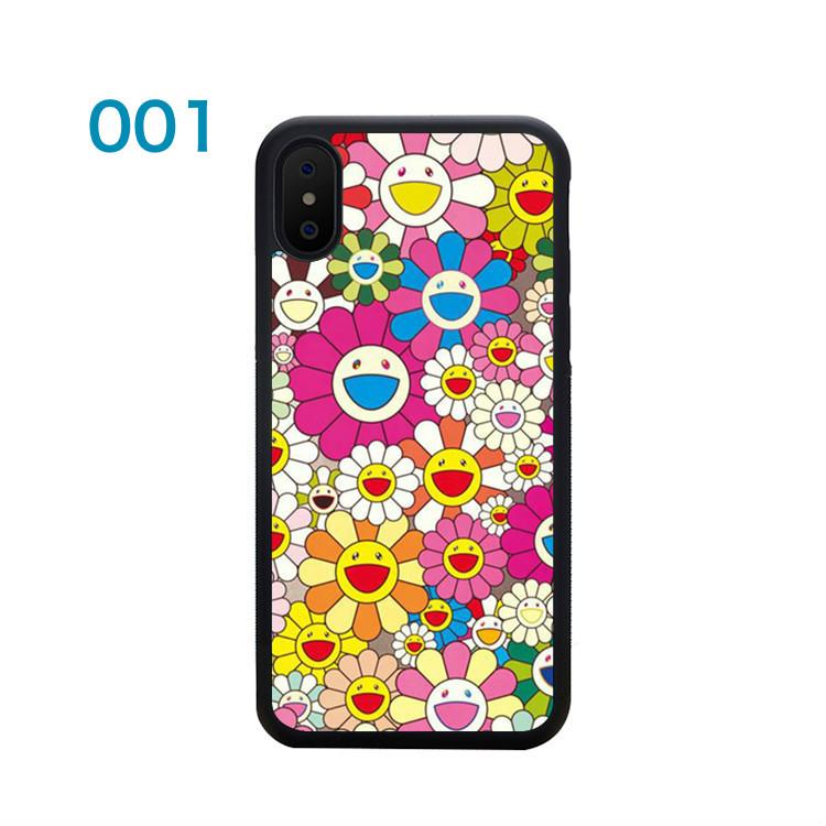 村上隆iPhoneX/8/iphone7プラス携帯カバー作品iphoneX/8/7ケース人気ブランド花