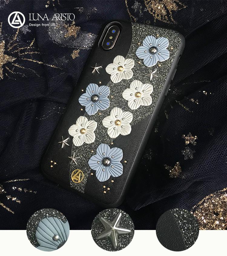 花柄スマホケースiPhoneXs/X/8/7 iphone2018 人気スナイデル立体的お花春夏