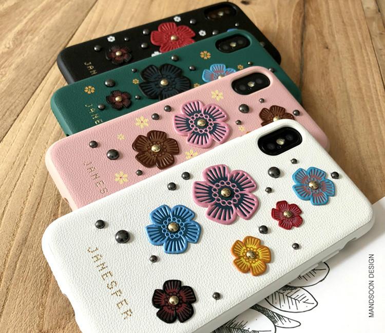 花柄アイフォンXPlusスマホカバーiphoneXS/8/7plus ケース リエンダ