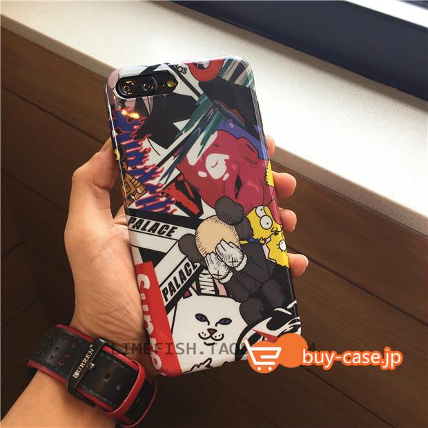 ファッションシュプリーム派手色柄iPhone XSスマホXS Max/XR/7plusカバー おすすめ値段安い