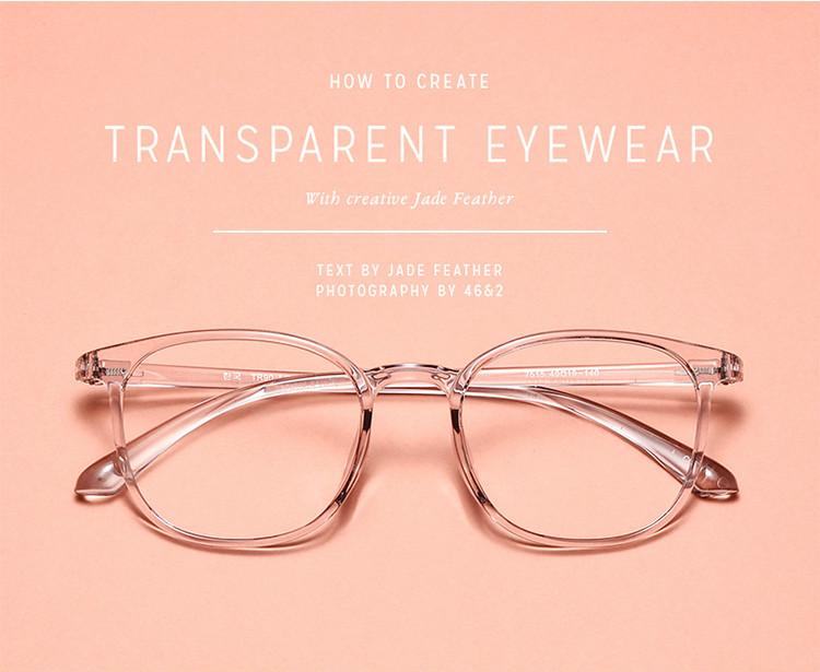 ブランドメガネ フレーム 透明痩せ顔効果度付き