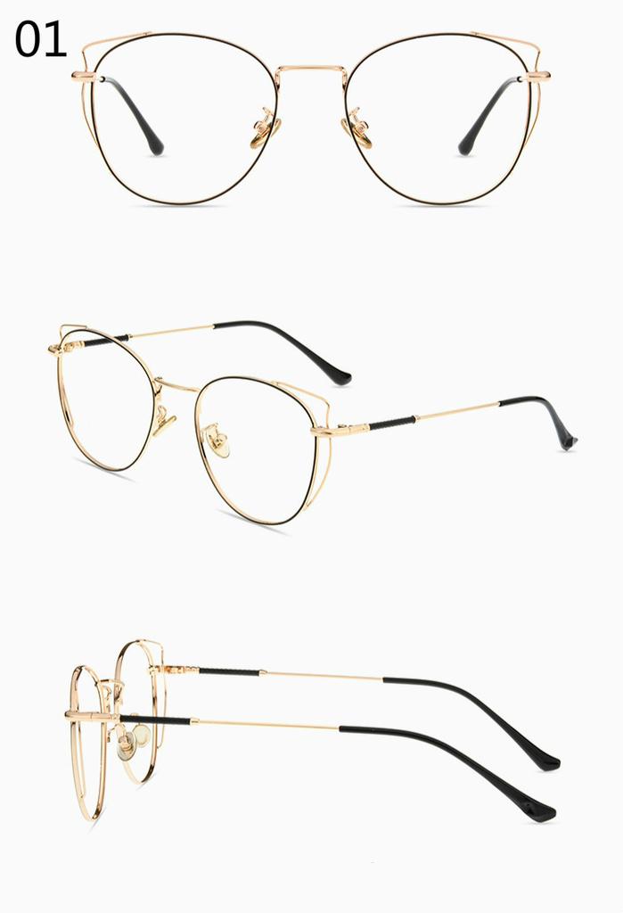 フレーム 大きめメガネ金色ゴールドメガネ 顔の形 選び方