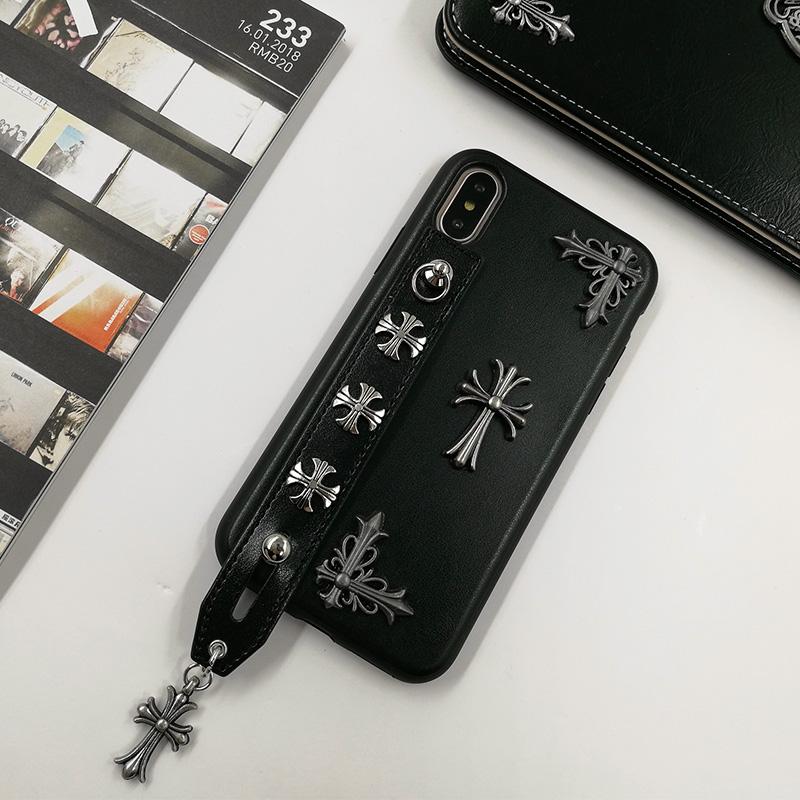 クロムハーツ新作ブランドiPhone XSスマホケース レザーおしゃれ