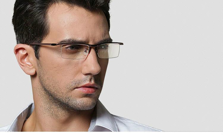 男性知的ナイロール伊達メガネ超軽量