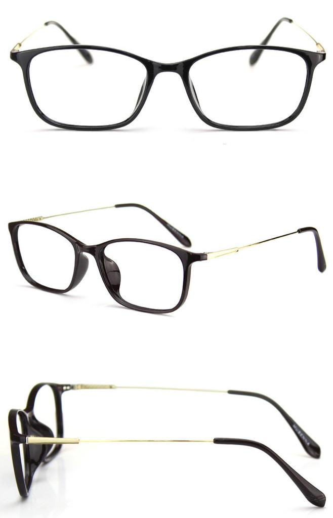 ブラウンデミ黒縁眼鏡 芸能人 愛用超軽量