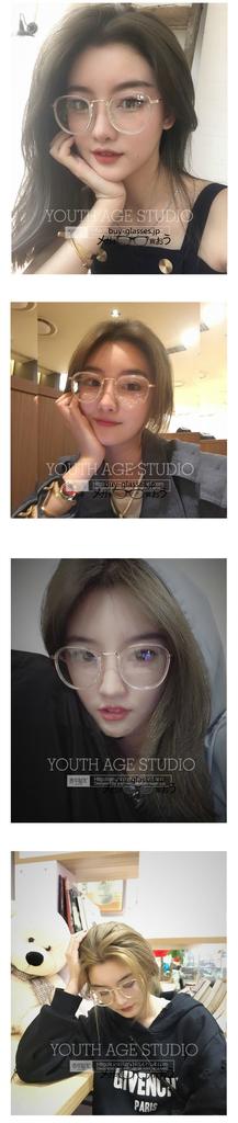 2019最新トレンドラウンド メガネ韓国人気 デザイン