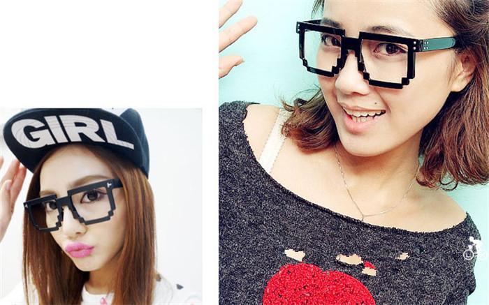 メガネフレーム面白い種類個性的モザイク個性的 メガネデザイン軽い