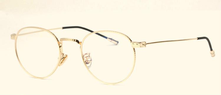 クラシック丸い韓国メガネフレーム眼鏡