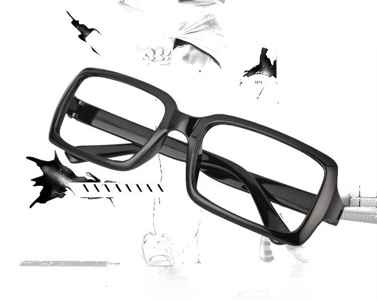 スクエア型眼鏡 黒縁 大きい