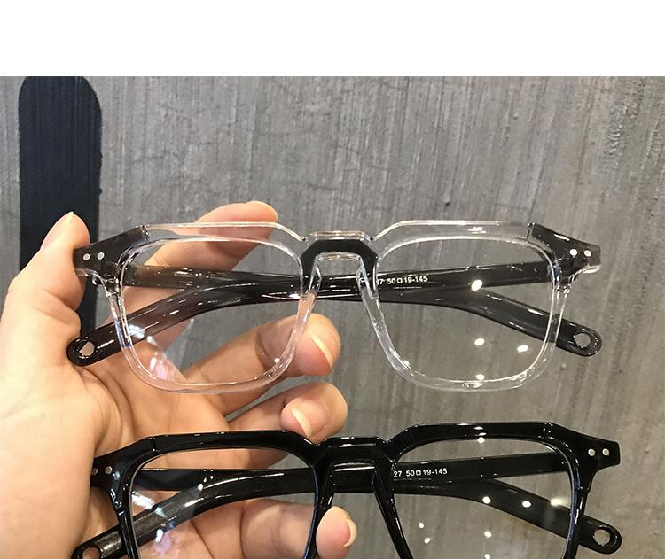 ウェリントン型クリア 眼鏡伊達眼鏡バイカラーフレーム