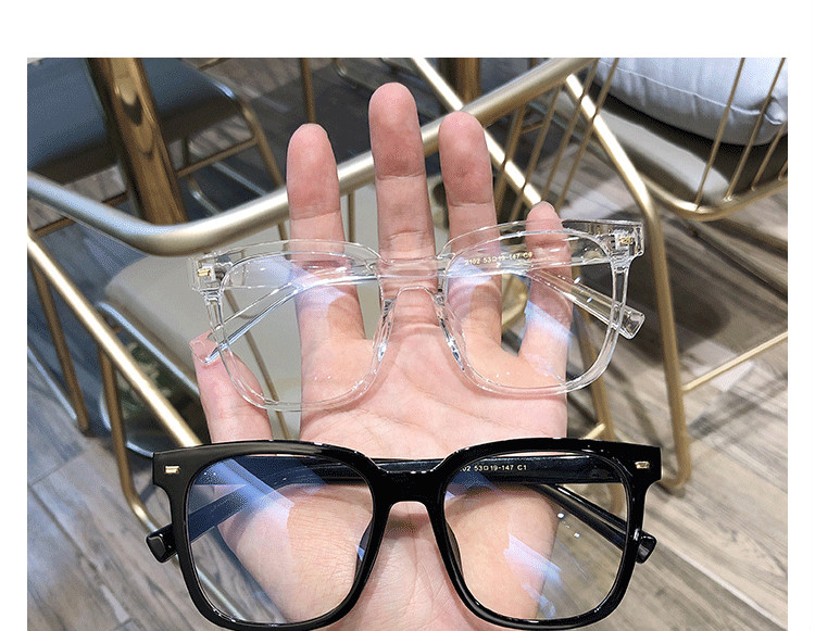 スクエアTR素材クリア 眼鏡黒縁眼鏡