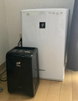 富士通ゼネラルの脱臭機と空気清浄器