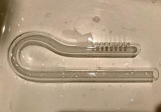 綺麗になったガラスパイプ吸水口
