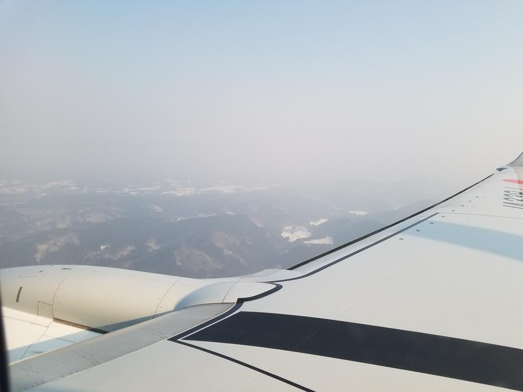 秋田空港着陸