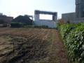 [第二京阪道路]道路予定地近くの畑