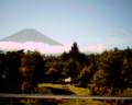[富士山]ビジターセンター2F展望台からの富士山