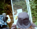 足和田山登山道入り口の柵