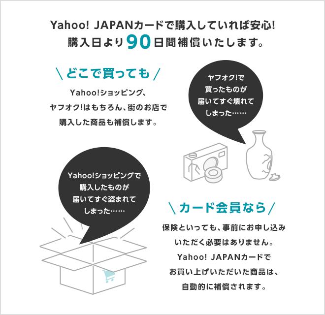 Yahoo! JAPANカードで払えば90日間の補償が付けられる
