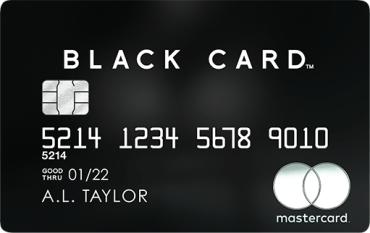 金属製のド派手なブラックカードであるLUXURY CARD