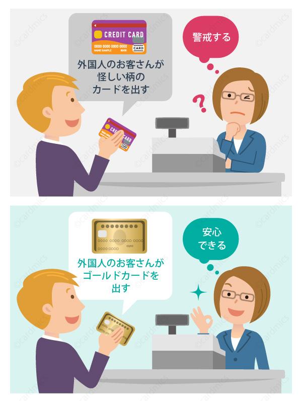 外国人が怪しいカードを使うと誰だって警戒する