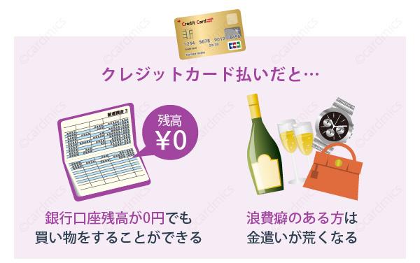 銀行口座残高0円でも買い物が出来てしまう