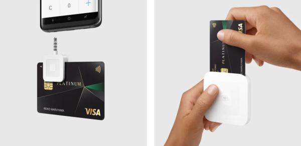 スマホを使ったクレジットカード決済の様子